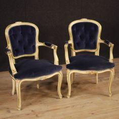 Mobili sedie salotto stile antico dipinti e dorati 900