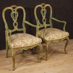 Mobili sedie in legno con tessuto stile antico 900