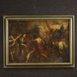 Antique Italian painting victory after the battle from 18th century