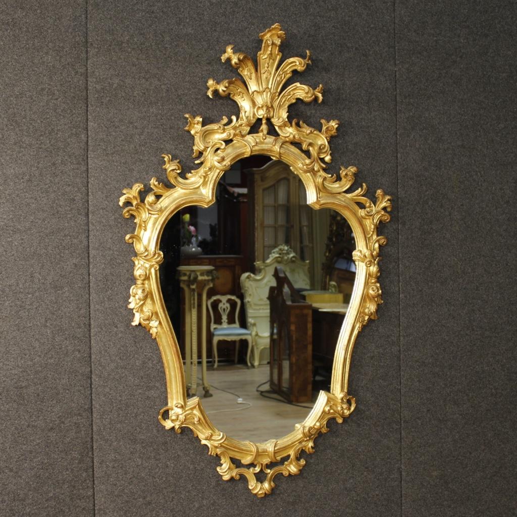 Venetian Mirror In Golden Wood