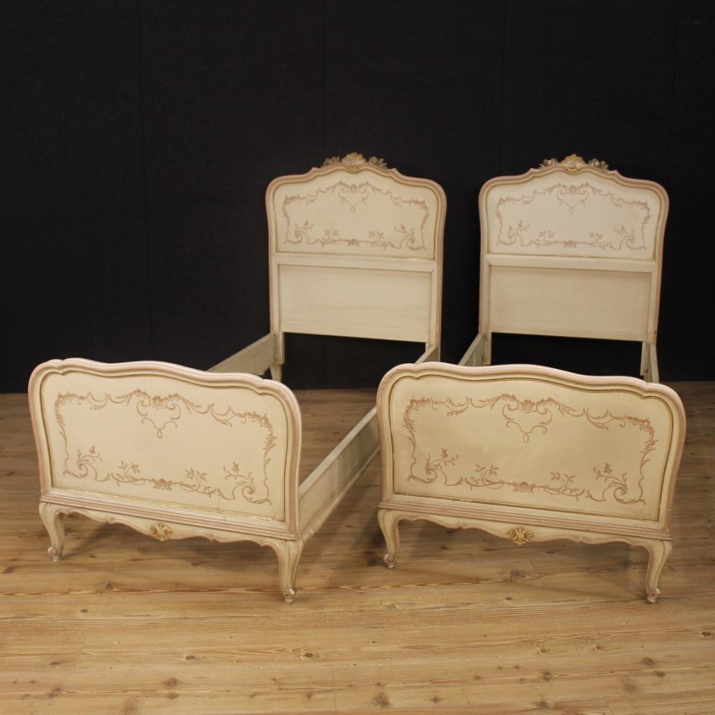 Coppia di letti laccati mobili stile antico veneziani - Mobili stile antico ...