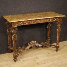 Mobile tavolo salotto in legno stile antico 800
