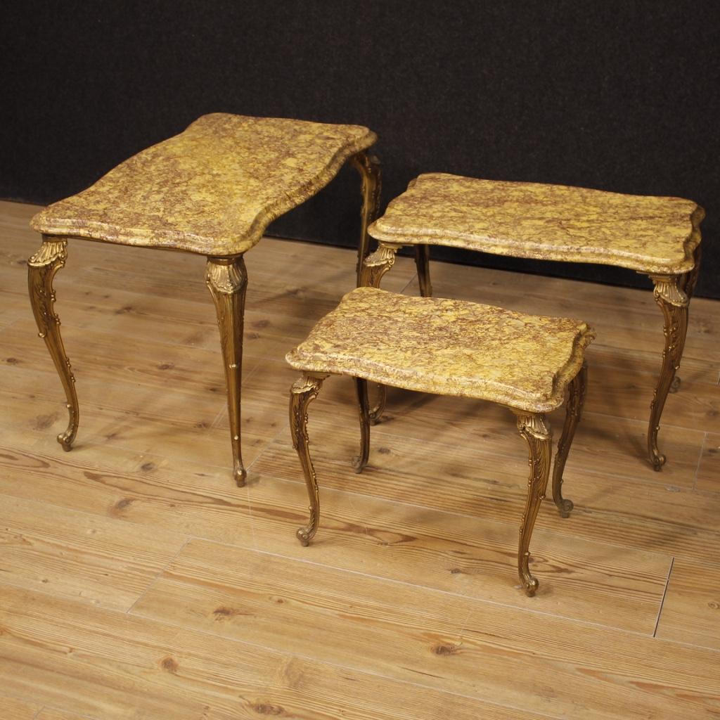 Tavolini Tavoli Da Salotto Italiani Set Mobili Ottone