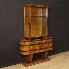 Libreria credenza in legno stile antico