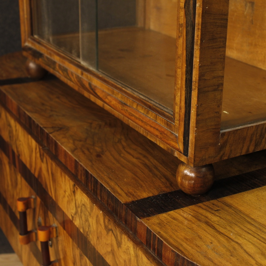 m bel vitrine b cherschrank kredenz holz intarsien antik stil art deco ebay. Black Bedroom Furniture Sets. Home Design Ideas