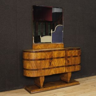 Italian sideboard with mirror in Art Deco style