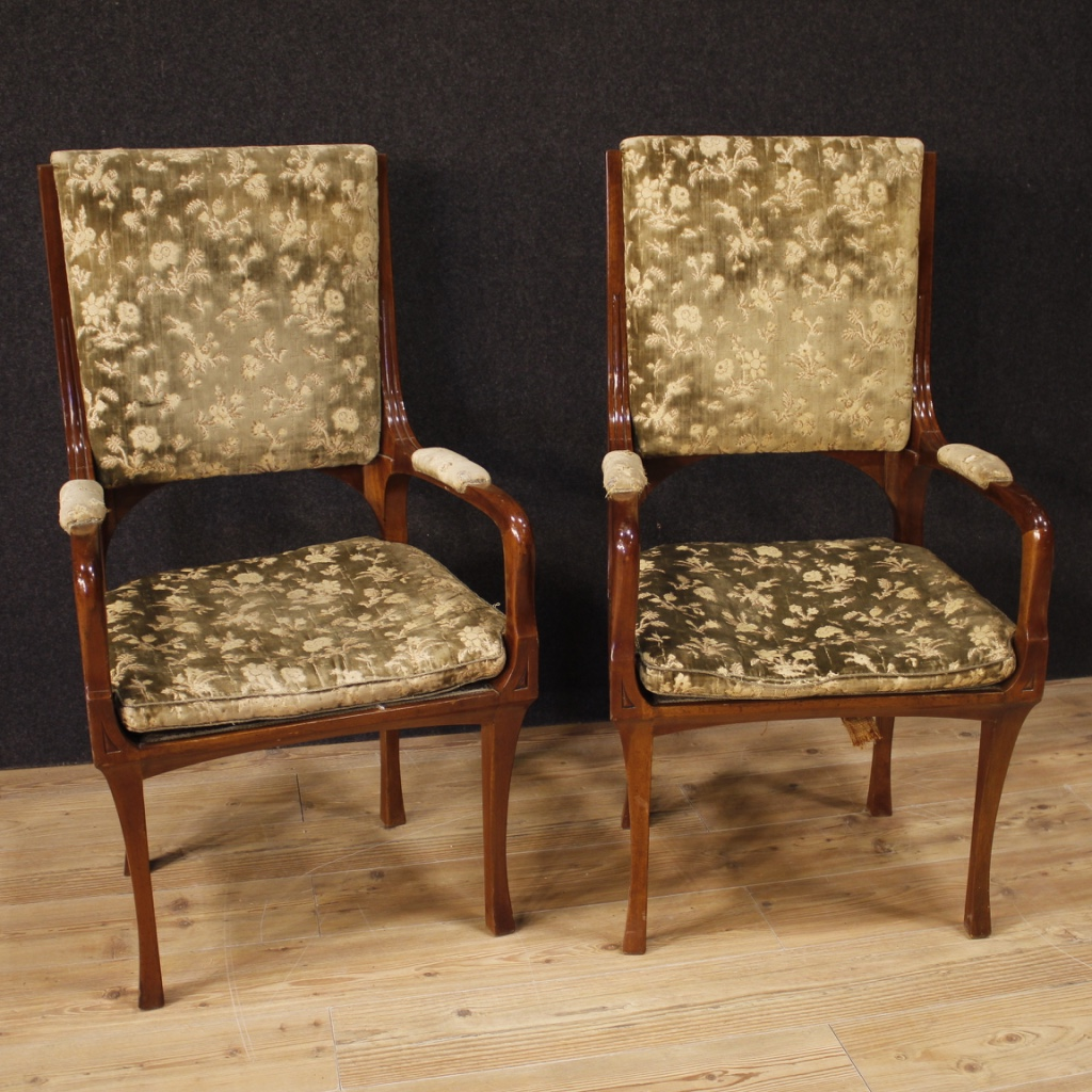 Salotto Art Nouveau.Details About Armchairs French Chairs Furniture Couple Seats Living Room Art Nouveau