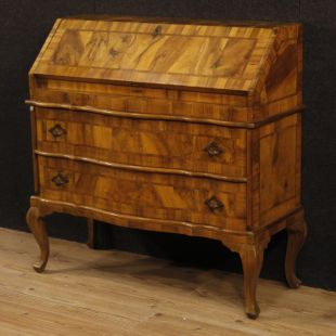 Venetian bureau in inlaid wood
