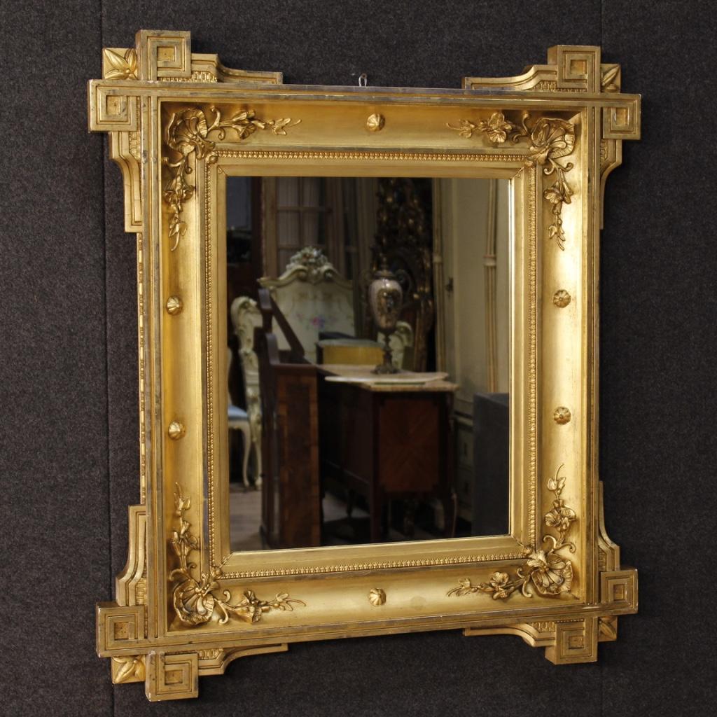 Ancien miroir fran ais dor du xix me si cle for Miroir francais