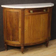 Mobile comò 3 ante e 1 cassetto in legno stile antico