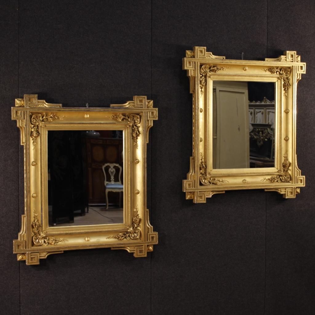 Antica specchiera francese dorata mobile specchio in legno cornice 800 xix ebay - Specchio in francese ...