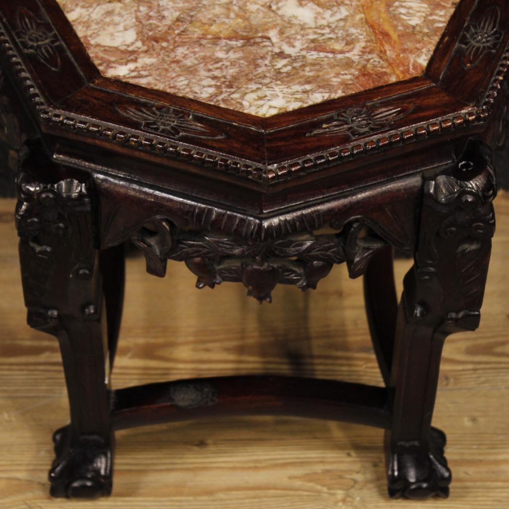 Tavolino cinese mobile salotto tavolo in legno comodino for Tavolo legno piano marmo