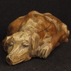 Statua in legno stile antico cubista epoca 900