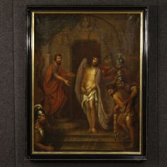 Quadro olio su tela arte sacra epoca 700