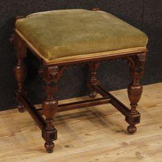 Pouf in legno stile antico salotto epoca 900
