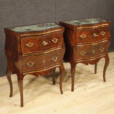 Mobili tavolini 2 cassetti stile antico piano in marmo 900
