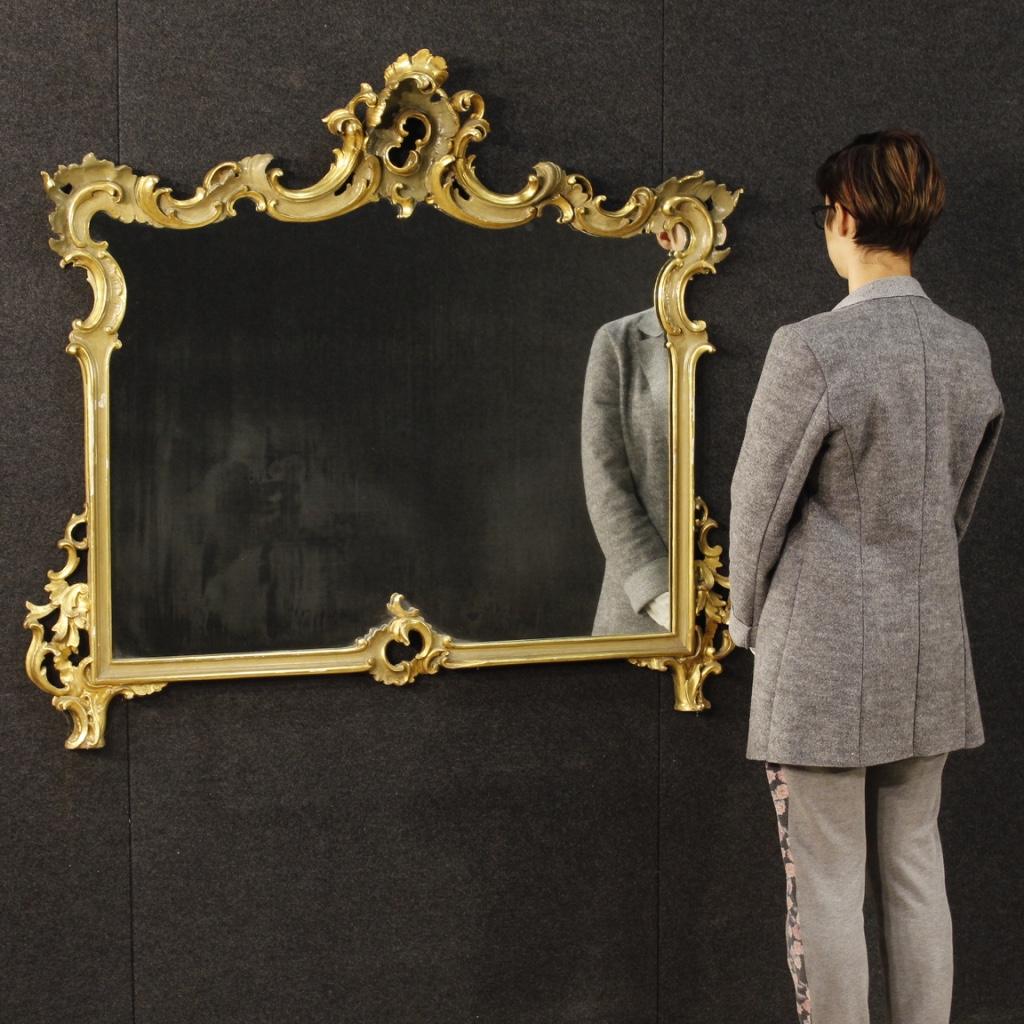 Specchiera veneziana mobile specchio laccato dorato stile antico cornice 900 ebay - Specchio dorato antico ...