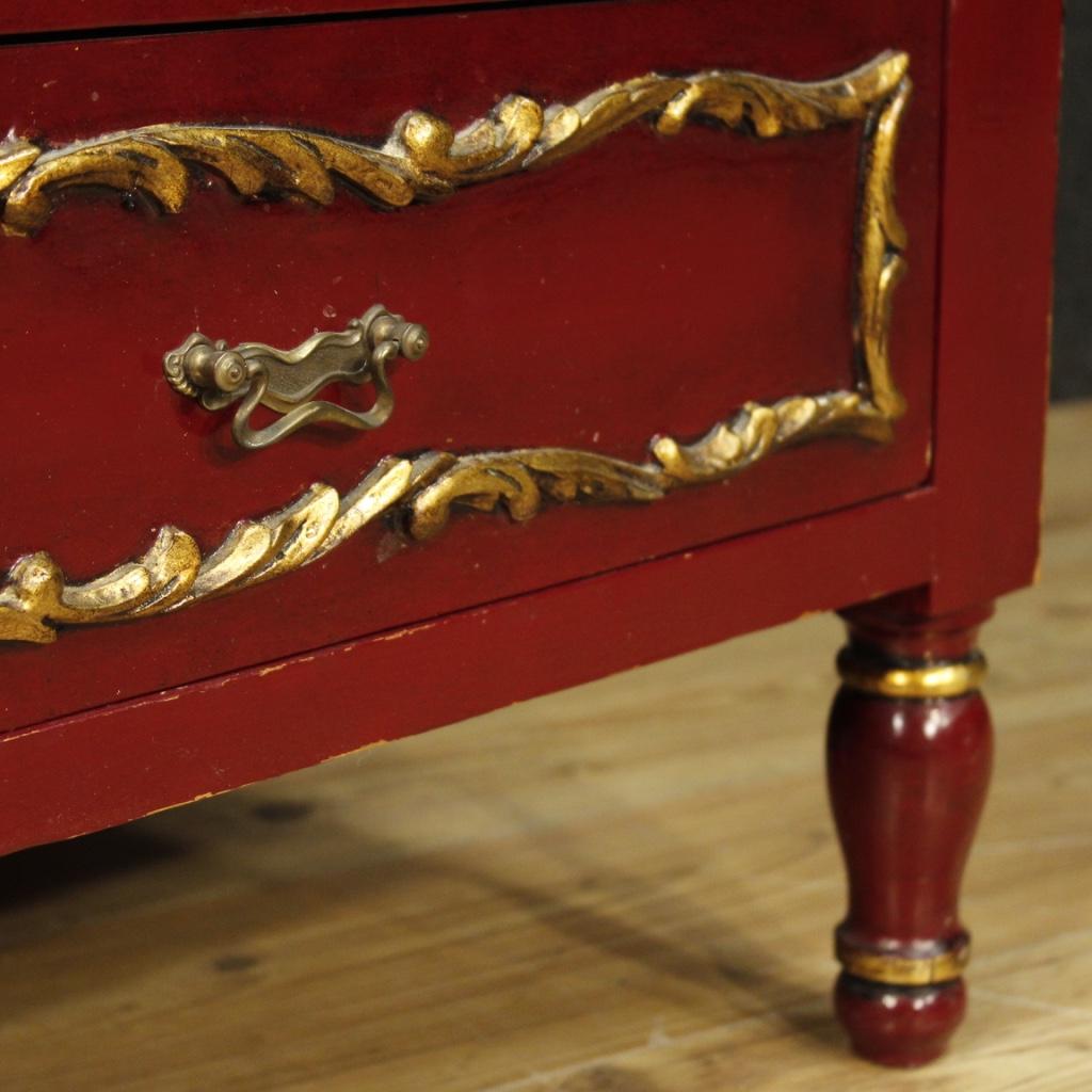 spanische kommode lackiert m bel vergoldet holz antik stil 5 schubladen 900 ebay. Black Bedroom Furniture Sets. Home Design Ideas