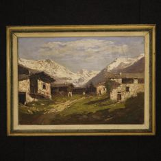 Quadro olio su tela stile impressionista epoca 900