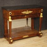 Antique French console in mahogany wood from 19th century