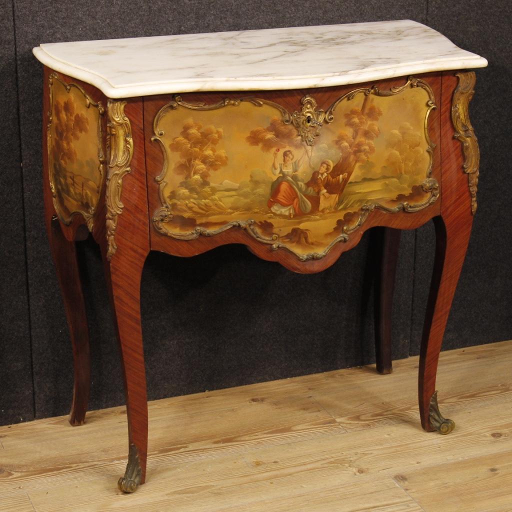 Commode fran aise en bois de rose avec dessus en marbre - Commode louis xv bois de rose ...