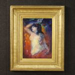 Signed French female nude painting