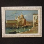 Italian signed painting view of Venice