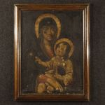 Antique French painting Madonna with child from 18th century