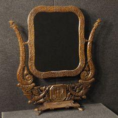 Mobile specchio specchiera in legno di faggio epoca 900