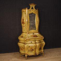 Mobile scrittoio credenza in legno stile antico 900