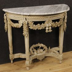Mobile tavolo consolle in legno stile antico