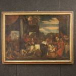 Antique Italian religious painting from 18th century