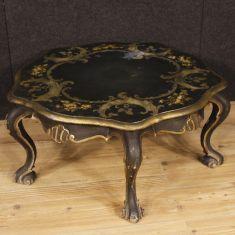 Tavolo basso da salotto mobile in legno stile antico 900