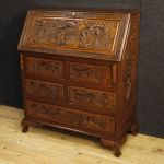 Dutch bureau in carved wood