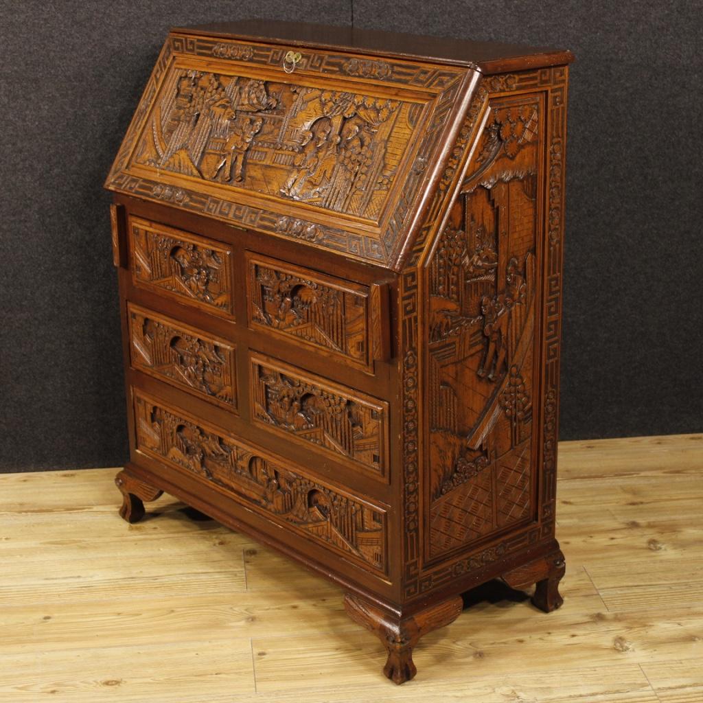 fore wood paint furniture dutch secretary desk secr taire dresser antique style ebay. Black Bedroom Furniture Sets. Home Design Ideas
