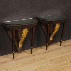 Tavolini console mobili in legno modernariato