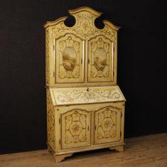 Mobile scrittoio ribalta in legno epoca 900