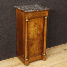 Tavolino in legno noce piano marmo epoca 800