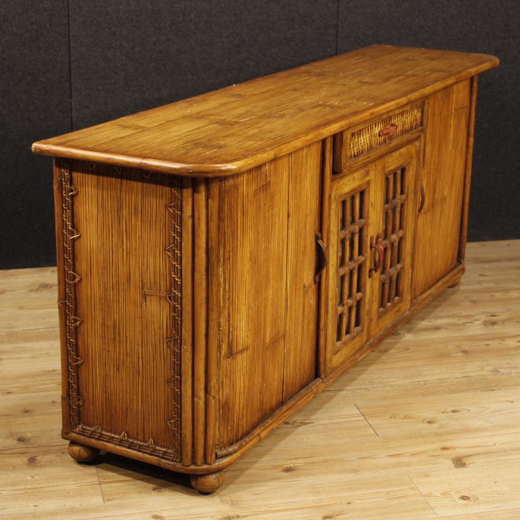 Mobile Credenza: Cupboard Wooden Bamboo Mobile Design Stamped KALMA Ramon