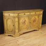 Venetian lacquered and painted sideboard