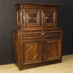 Mobile doppio corpo in legno stile Luigi XIII epoca 700