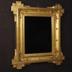 Mobile specchio cornice in legno e gesso epoca 800