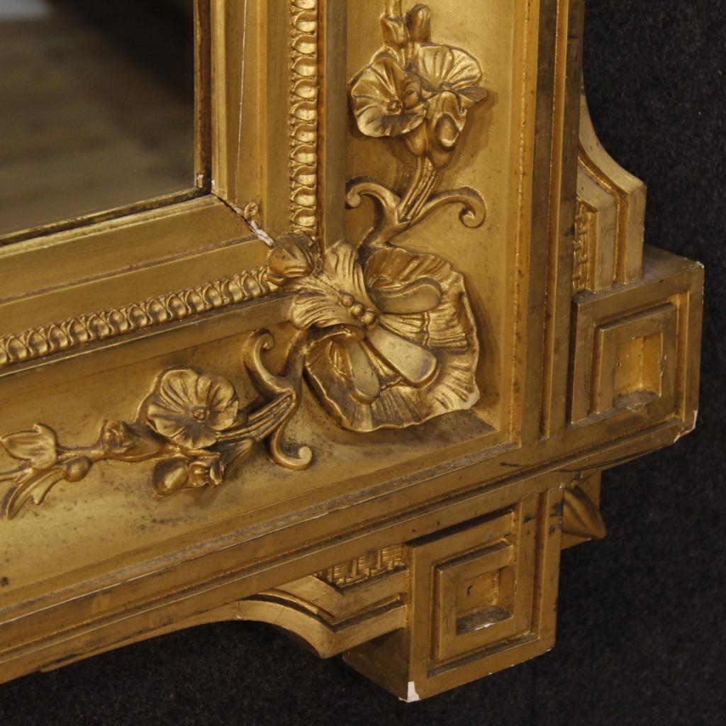 Antica specchiera francese dorata mobile specchio in legno gesso cornice 800 ebay - Specchio con cornice in gesso ...