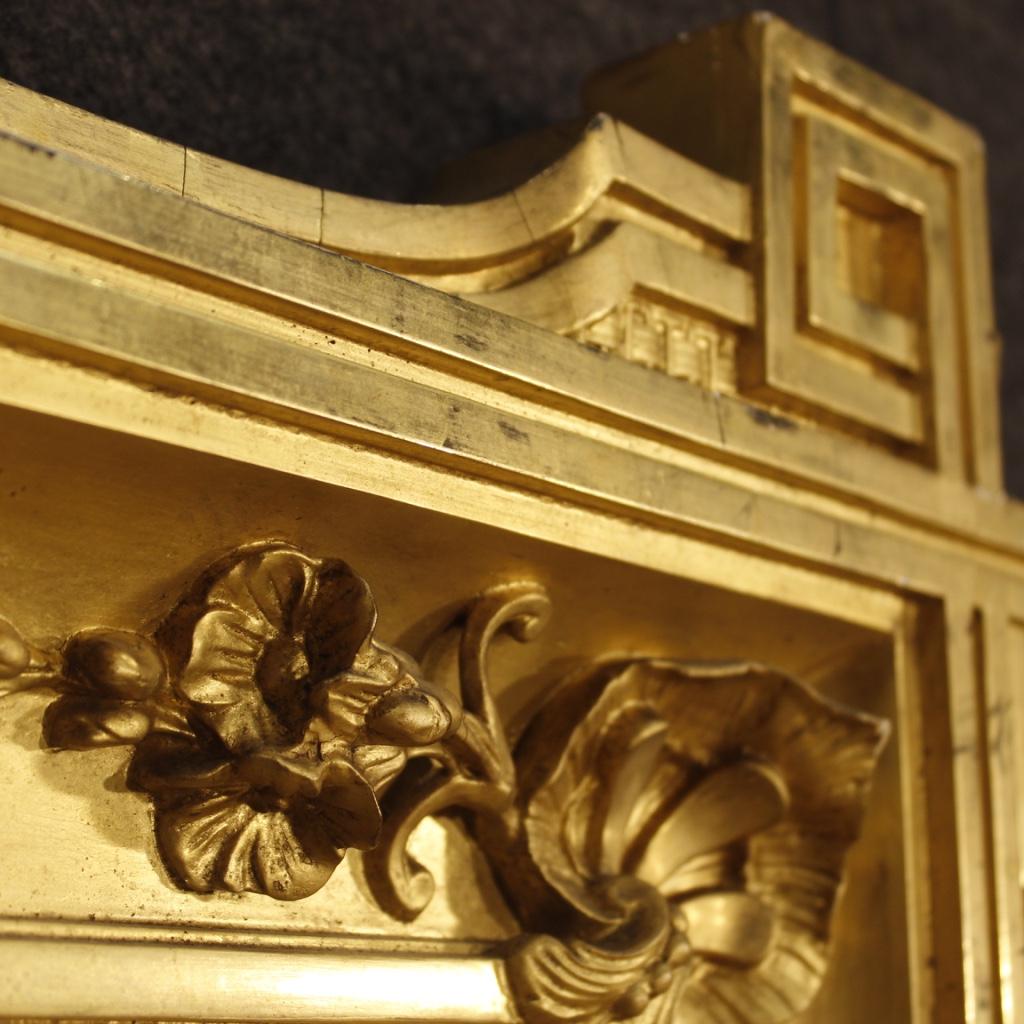 Antica specchiera francese dorata mobile specchio in legno gesso cornice 800 ebay - Specchio in francese ...