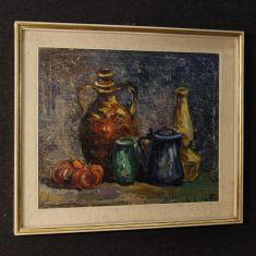 Quadro cornice laccata e dorata stile antico impressionista