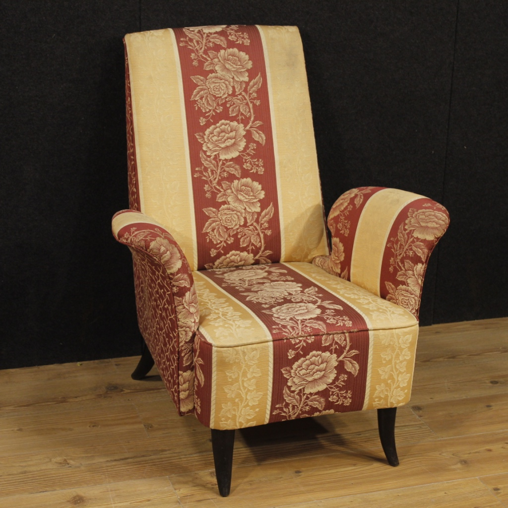 Armchair italian furniture chair living room style Guglielmo Ulrich fabric  900 | eBay