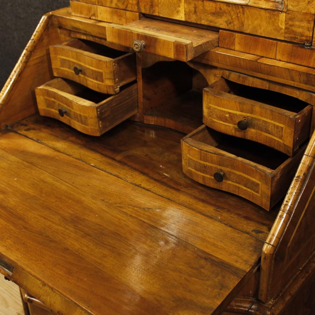 Trumeau marquet bois miroir meuble bureau secr taire commode rabat style ancien ebay - Bureau bois ancien ...