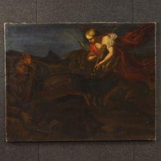 Quadro Apparizione di angelo con violino epoca 700