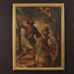 Antique painting Martyrdom of Saint Alexander from Bergamo from 18th century