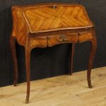 French bureau in rosewood, palisander and maple